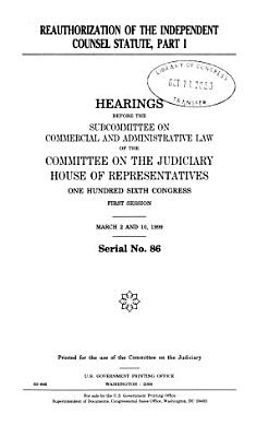 Reauthorization of the Independent Counsel Statute PDF