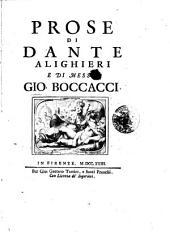 Prose di Dante Alighieri e di messer Gio. Boccacci