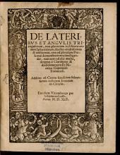 De Lateribus et Angulis Triangulorum libellus