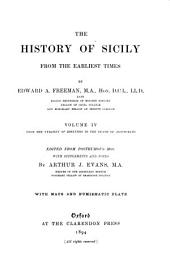 The History of Sicily from the Earliest Times: Volume 4