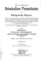 Vollst  ndiges Ortschaften Verzeichniss des K  nigreichs Bayern PDF