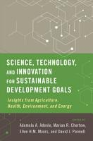 Science  Technology  and Innovation for Sustainable Development Goals PDF