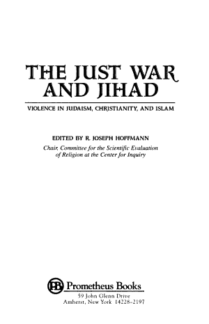 The Just War and Jihad