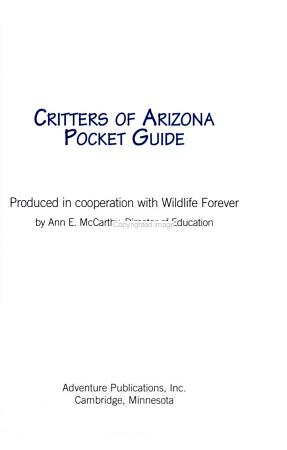 Critters of Arizona Pocket Guide PDF