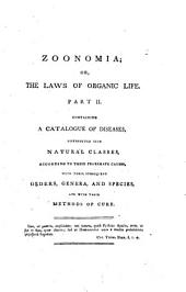 Zoonomia Or the Laws of Organic Life: Volume 3