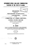 Government owned Long lines Communication Facilities in the State of Alaska PDF