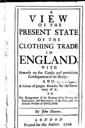 A view of the present state of the clothing trade in England