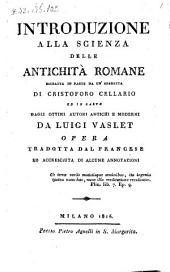 Introduzione Alla Scienza Delle Antichita Romane ..... Tradotta Dal Francese