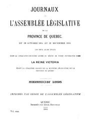 Journaux de l'Assemblee Legislative: Volume 30