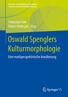 Oswald Spenglers Kulturmorphologie PDF