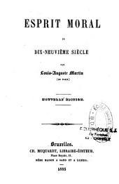 Esprit moral du XIXe siècle