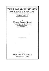 The Probable Infinity of Nature and Life: Three Essays