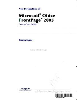 New Perspectives on Microsoft Office FrontPage 2003 PDF