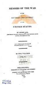 Memoirs of the War in the Southern Department of the United States: Volume 2