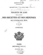 Projet de loi: portant fixation du budget général de l'éxercice, Volume2