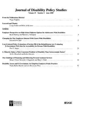 Journal of Disability Policy Studies PDF
