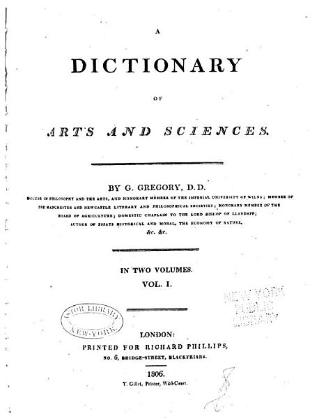 Download A Dictionary of Arts and Sciences Book