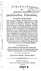 Jahrbücher der gesammten deutschen juristischen Literatur: Band 7