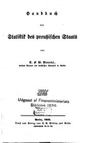 Handbuch der Statistik des preussischen Staats