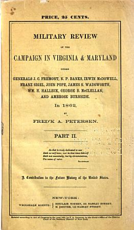Military Review of the Campaign in Virginia   Maryland PDF