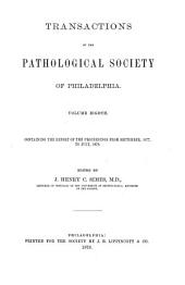Transactions of the Pathological Society of Philadelphia