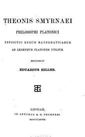 Expositio rerum mathematicarum ad legendum Platonem utilium