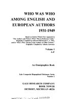 Who was who Among English and European Authors, 1931-1949