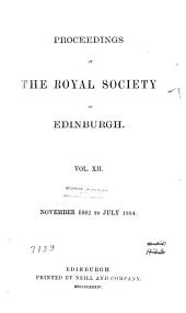Proceedings of the Royal Society of Edinburgh: Volume 12