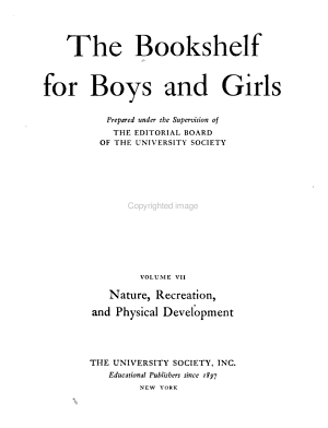The Bookshelf for Boys and Girls  Nature  recreation  and physical development