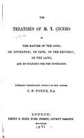 The Treatises of M T  Cicero PDF