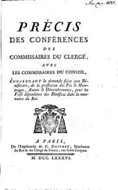 Précis des Conferences des Comissaires du Clergé avec Les Commissaires du Conseil