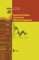 Numerical Solution of Stochastic Differential Equations PDF