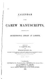 Calendar of the Carew Manuscripts: Miscellaneous papers: The book of Howth. The conquest of Ireland, by Thomas Bray, etc