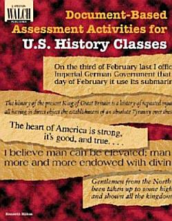 Document based Assessment Activities for U S  History Classes Book