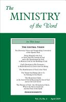 The Ministry of the Word  Vol  23  No  4 PDF