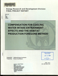 Compensation for Cooling Water Intake Entrainment Effects and the Habitat Production Foregone Method