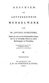 Geschied- en letterkundig mengelwerk: Volume 4,Deel 2