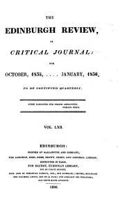 The Edinburgh Review: Or Critical Journal, Volume 62