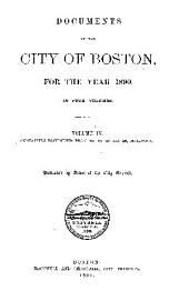 Documents of the City of Boston: Volume 4