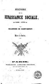 Histoire de la renaissance sociale (1589-1774): maison de Bourbon