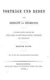 Vorträge und Reden: Bände 1-2