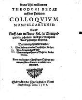 Antwort Theodori Bezae auff das publicirte Colloquium Mompelgartense: Band 2