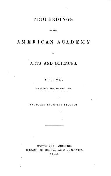 Proceedings of the American Academy of Arts and Sciences PDF