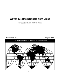 Woven Electric Blankets from China  Inv  731 TA 1163  Final  PDF