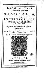 Philokalia sive excerptorum e sacris et externis auctoribus (etc.) opus
