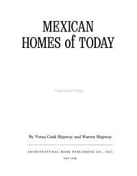Mexican Homes of Today Book
