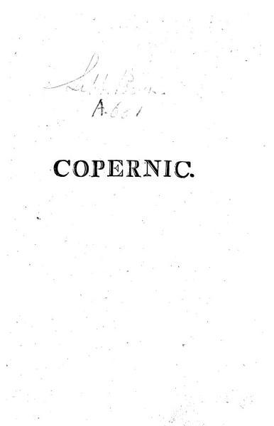 Discours sur le programme propos   par la Soci  t   litt  raire de Varsovie  en payant un tribut d   loges    la m  moire de Copernic  tr  par mr  Tegoborsky