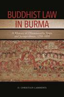 Buddhist Law in Burma PDF