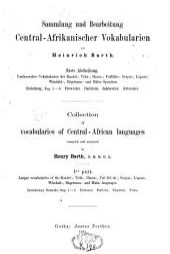 Sammlung und Bearbeitung central-afrikanischer Vocabularien