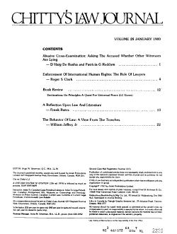 Chitty s Law Journal PDF